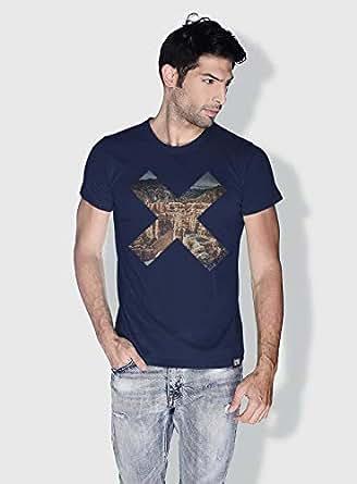 Creo Almaty Mountain X City Love T-Shirts For Men - L, Blue