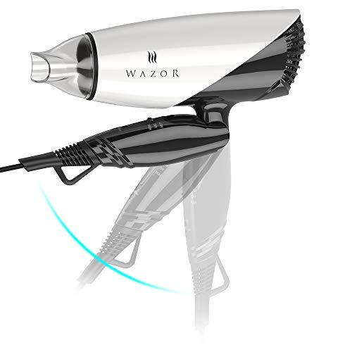Wazor Hair Dryer Ceramic Ionic Blow Dryer Folding Dual Voltage Dryer