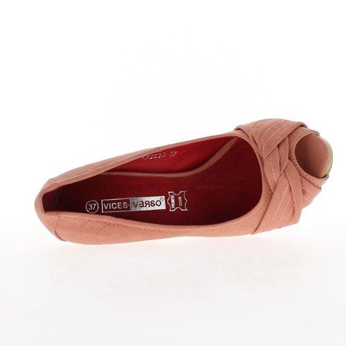 Red open woman pumps heels 11cm and 2.5 cm platform 4xn9Wcg
