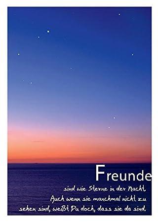 Schöne Sprüche Postkarte Freundschaft Und Sterne Freunde