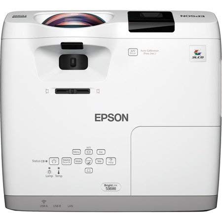 - Epson - V11H670022 - Epson BrightLink 536Wi Short Throw LCD Projector - 720p - HDTV - 16:10 - Front - Interactive1.6 - UHE - 215 W - NTSC, PAL, SECAM - 5000 Hour Normal Mode - 10000 Hour Economy Mode