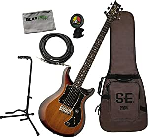 PRS S2 Satin Standard 24 McCarty Tobacco Electric Guitar w/Stand, Cable, Cloth, Tuner