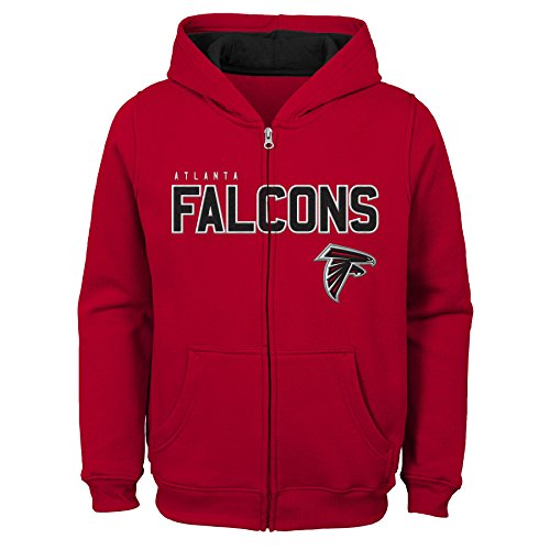 Outerstuff NFL Atlanta Falcons Kids & Youth Boys Stated Full Zip Fleece Hoodie, Crimson, Kids ()