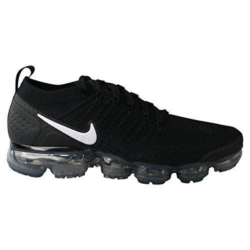 NIKE Men's Air Vapormax Flyknit 2 Running Shoes (11.5, Black/White/Grey)