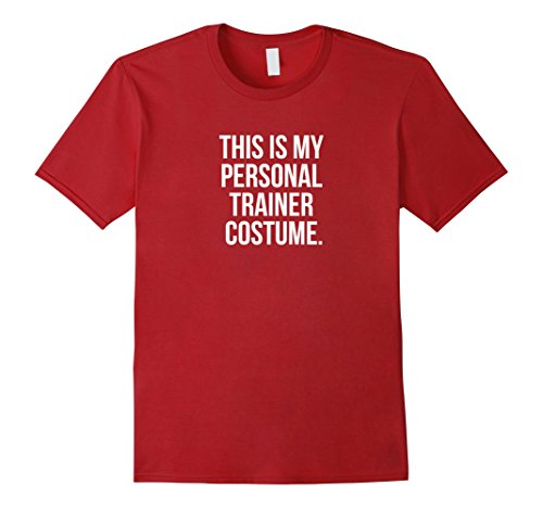 Mens This is my Personal Trainer Costume Funny Halloween Shirt Large Cranberry