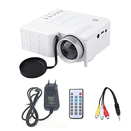 Goldyqin Uc28A - Mini proyector LED portátil, 1080P, Multimedia ...