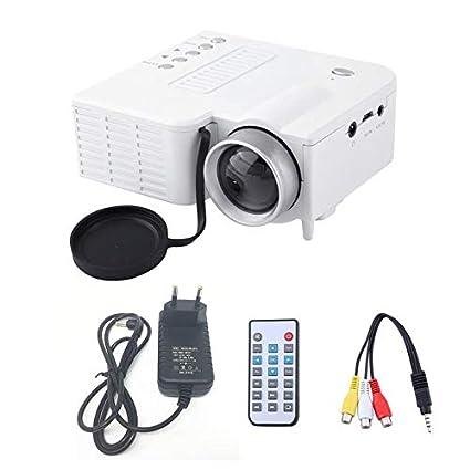 Goldyqin Uc28A - Mini proyector LED portátil, 1080P, Multimedia ...