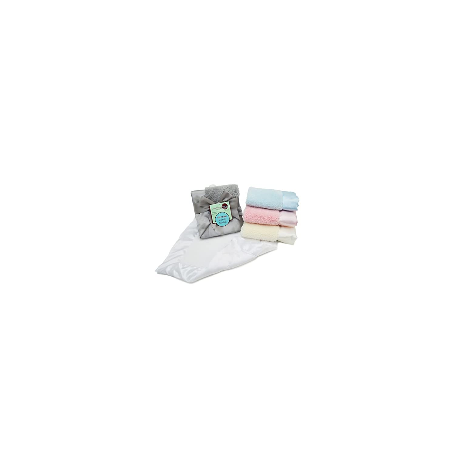 American Baby Company Sherpa Security Blanket, White, for Boys and Girls