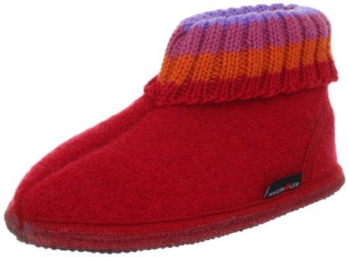Haflinger 631051 Slippers, Hut-Shoes Paul, ziegelrot, Gr 22