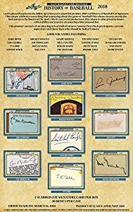 (2018 Leaf History of Baseball Cut Signature Edition Hobby Box! In Stock on July 20th, 2018! Possible Babe Ruth and Lou Gehrig Autos! )