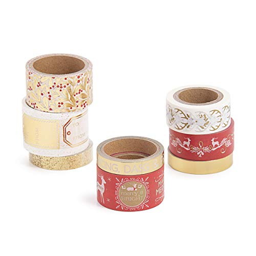 Martha Stewart 30068351 Washi Tape-Traditional, Assorted ()