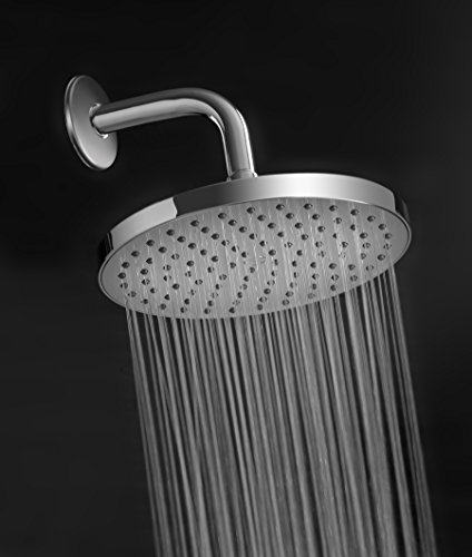 ShowerMaxx | Fixed Rainfall Shower Head with High Pressure Water Flow in Polished Chrome Finish | Round 8inch with Rainshower Jets | Luxury Hotel Spa Rainhead | 2.5 GPM High-Flow Waterfall Showerhead by ShowerMaxx (Image #6)