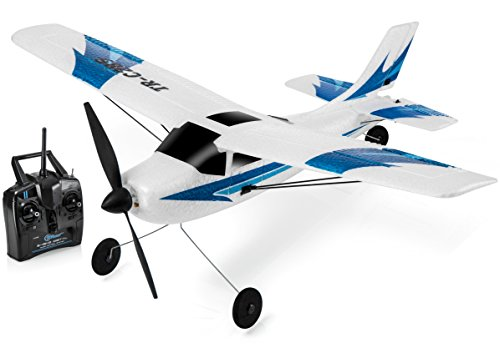 Top Race Remote Control Airplane, 3 Channel RC Airplane Aircraft Built in 6 Axis Gyro System Super Easy to Fly RTF ()