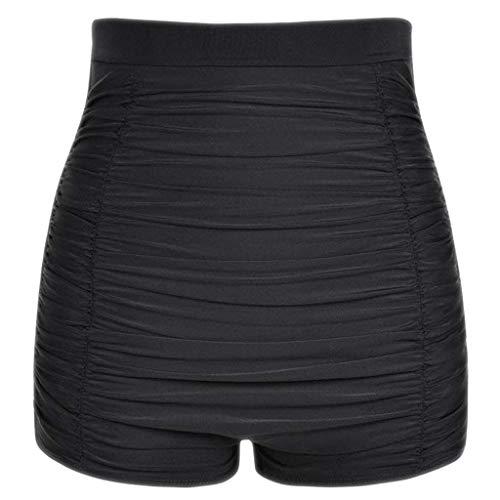 2019 Solid Ruched Swim Bottoms,QueenMMWomen Plus Size High Waist Bikini Bottoms Swim Briefs Beach Shorts Black ()