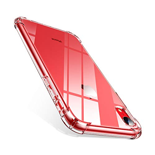 AINOPE Case Compatible with iPhone XR Case, [Crystal Clear] Shock Absorption with 4 Corners Protection, Protective Cover with Soft Scratch-Resistant TPU Compatible iPhone XR 6.1 inch 2018