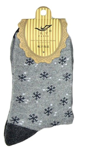Lian LifeStyle 4 Pairs Women's Angora Lambs Wool Socks Snowflakes Size 7-9 - Stores Black Sales Have Designer Do Friday