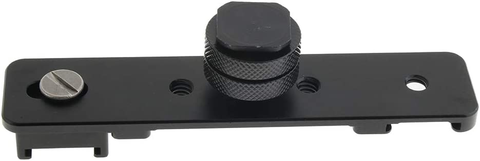 Almencla Flash Bracket Hot Cold Shoe Extension for Canon Sony Pentax Cameras