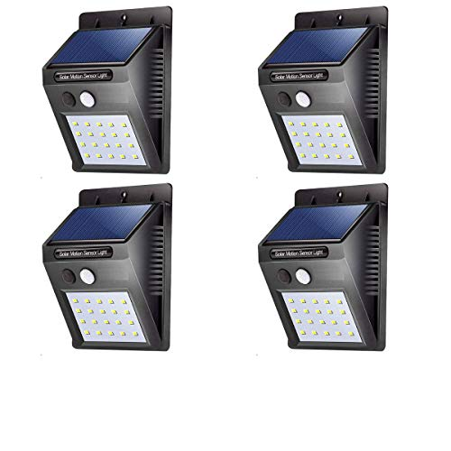 ASGTRADE Solar Sensor Wall Light in Night, Product for Garden, Swimming Pool, Balcony and high Security Area.-4 Pieces…