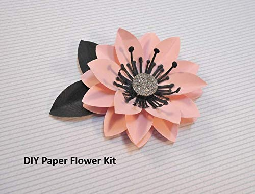 Paper Flower Kit For 3 Flowers Make Your Own Paper Flowers Diy Kid Friendly Crafts Paper Flower Decorations