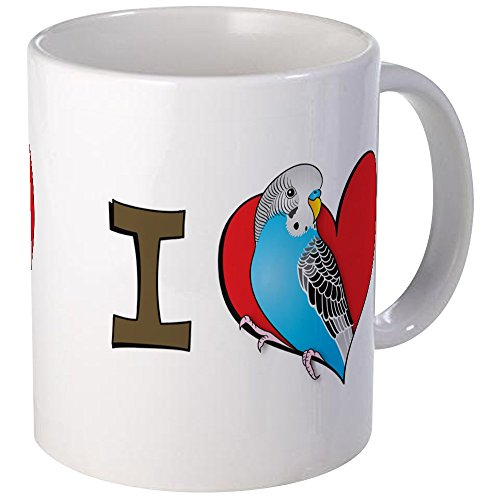 (CafePress I Heart Parakeets Mug Unique Coffee Mug, Coffee Cup)