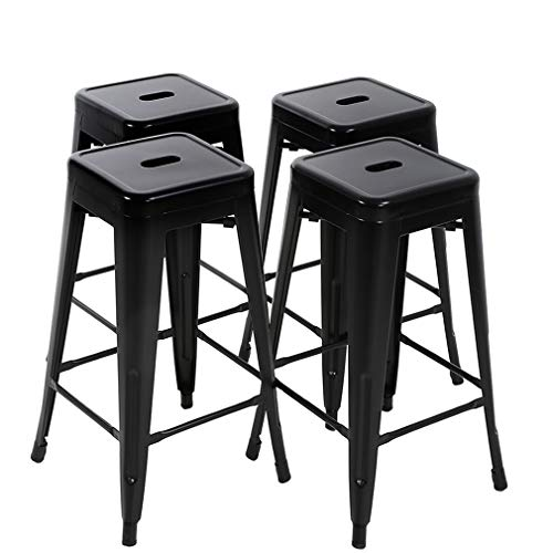 FDW Bar Stools Metal Counter Height 30