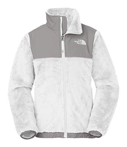 The North Face Kids Girls Denali Thermal Jacket (Little Big Kids), TNF White XS (6