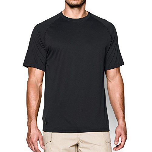 Under Armour Men's Tactical Tech, Black/Clear, - Tech Crew T-shirts
