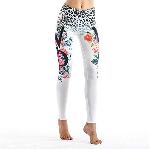 Fashion Women Pants Popular Printed Elastic Yoga Workout Leggings Pants by CLKJYF