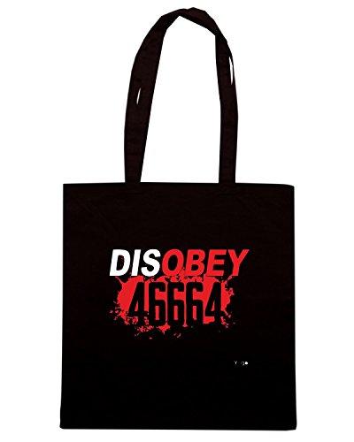 T-Shirtshock - Bolsa para la compra WC0170 46664 DISOBEY Negro
