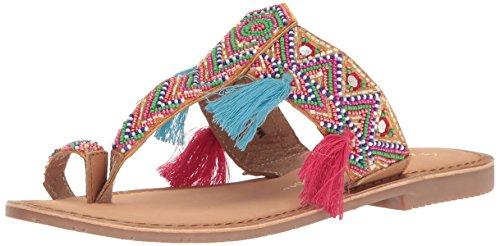 Chinese Laundry Women's Paradiso Toe Ring Sandal, Tan Leather,  7 M US