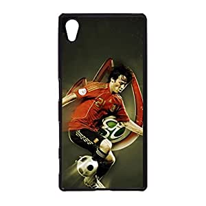 Sony Xperia Z5 Mystery Design Manchester City FC Team Back Cover Sideways Tribute David Silva Printing Hard Mobile Phone Case