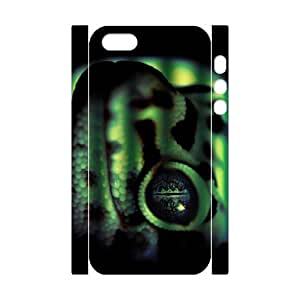Iphone 5,5S Snake 3D Art Print Design Phone Back Case Personalized Hard Shell Protection HG064569