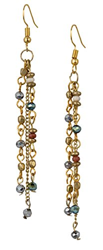 New! Handmade Boho Iridescent Faceted Long Light Weight Dangle Crystal Earrings For Women   SPUNKYsoul Collection