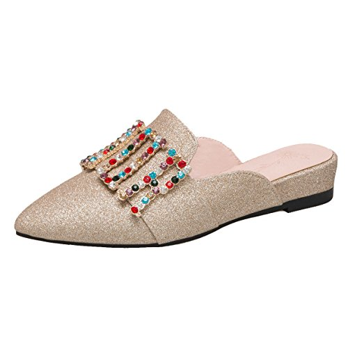 JYshoes Femme Mules Femme Mules Or JYshoes Or JYshoes awqaUFfr