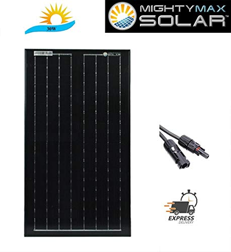 Mighty Max Battery 30 Watt Monocrystalline Solar Panel Brand Product