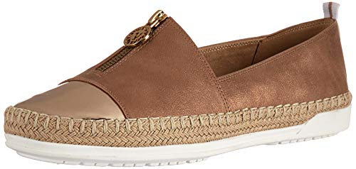 Bronze Slip On (Anne Klein Women's Zetta Slip ON Sneaker, Light Bronze, 7 M US)