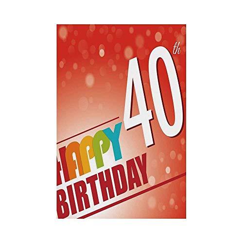 - Jiuyuan 40th Birthday Decorations,Party Invitation in Vibrant Colored Retro Style Bokeh Backdrop,Multicolor,for Wedding Anniversary Home Outdoor Garden Dec