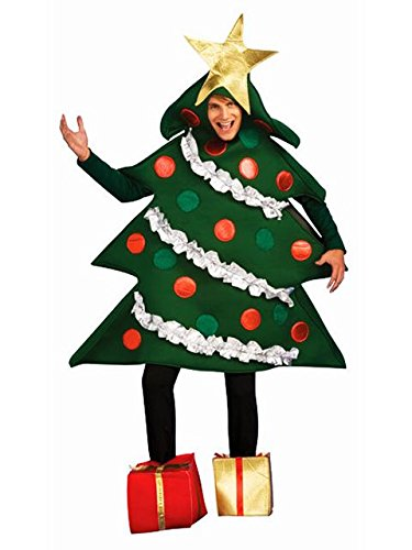Rubie's Women's Christmas Tree Jumper Costume With Present Boot Tops, As Shown, Large