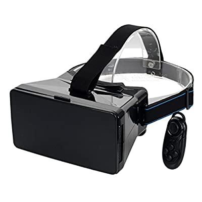 """VR 3D Video Glasses w/ Bluetooth Mouse for 3.5~5.6"""" Phone - Black"""