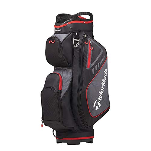 TaylorMade 2019 Golf Select Cart Bag, Black/Red by TaylorMade