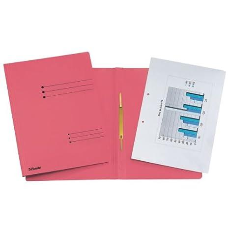 Esselte Report File Formato A4 Rosso Capacit/à fino a 250 fogli 621056 80 gr//mq Cartone riciclato