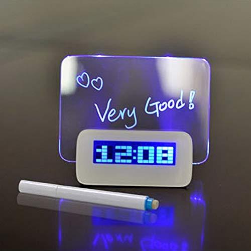 Allegro Huyer Projection Alarm Clock Blue LED Alarm Clocks Fluorescent Projection Digital Desktop Clock Message Board USB 4 Port Hub Relogio Clock (Calgary Kohl's Canada)