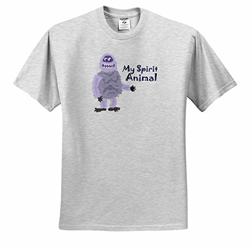 (All Smiles Art Funny - Funny Abominable Snowman is My Sprit Animal - T-Shirts - Adult Birch-Gray-T-Shirt Large (ts_252607_20) )