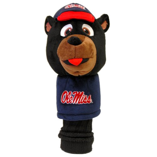 Team Golf NCAA Ole Miss Rebels Mascot Golf Club Headcover, Fits most Oversized Drivers, Extra Long Sock for Shaft Protection, Officially Licensed Product