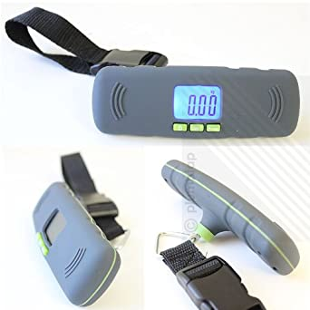 Grey//Green Portable Digital Luggage Scale Hanging Luggage//Suitcase Scale with Tare Function for Travel//Outdoor//Home Use 88 lb// 40kg Capacity
