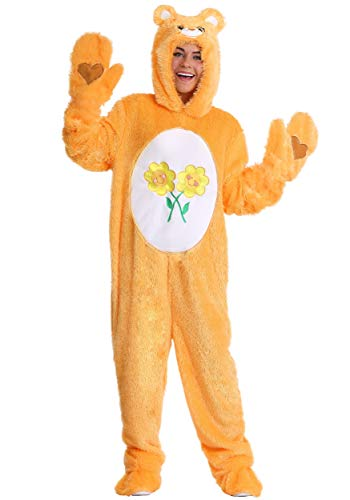 Yellow Care Bear Costume (Care Bears Adult Friend Bear Costume X-Large)