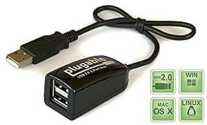 Plugable USB 2.0 2-Port High Speed Ultra Compact Hub/Splitter (480 Mbit/s, USB 2.0 Windows, Linux, OS X, Chrome OS)