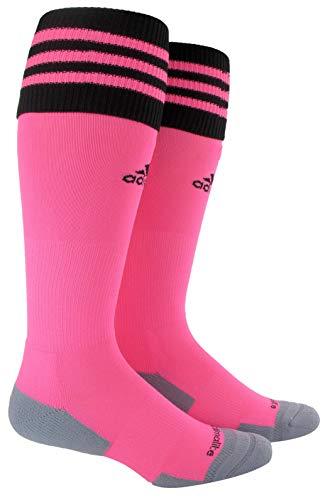 adidas Unisex Copa Zone Cushion II Soccer Sock (1-Pair), Ultra Pop/Black, 5-8.5