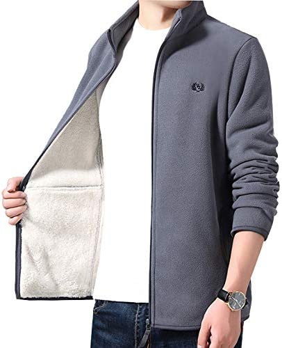 メンズ ジャケット 長袖フリースジャケット秋冬 カジュアルファッション防風防寒 無地 おおきいサイズ ジャケット