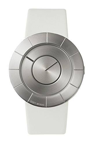 Issey Miyake Unisex TO Leather Watch White #SILAN011
